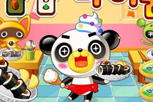 小熊貓做紫菜包飯