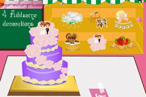 《装扮浪漫婚礼蛋糕》游戏画面1