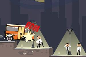 《汽车撞倒行走》游戏画面1