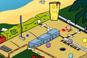 《高尔夫弹珠》游戏画面1