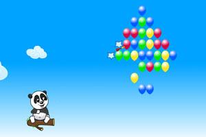 《熊猫射气球》游戏画面1
