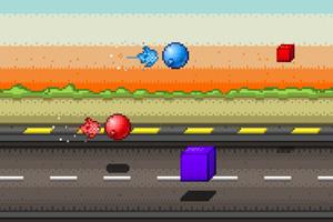 《红蓝火箭大比赛》游戏画面1