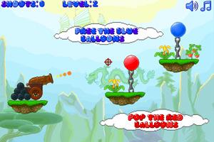 《炮打气球2》游戏画面1