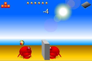 《螃蟹打排球》游戏画面1