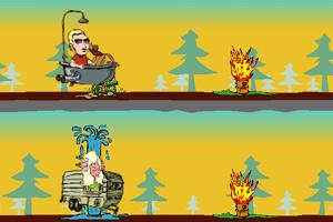 《双人浴盆赛车》游戏画面1