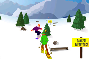 《快速滑雪》游戏画面1