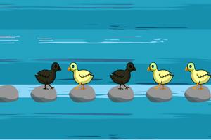 《小鸡跳棋》游戏画面1