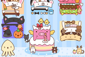 《猪猪的一岁生日》游戏画面1