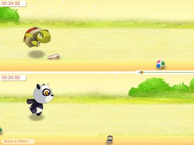 《熊猫乌龟赛跑》游戏画面1