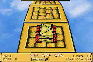 《3D大脚橙色小车》游戏画面1
