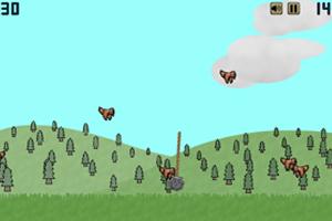 《铁球砸小鸟》游戏画面1