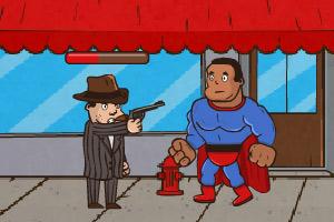 《黑超人打坏蛋》游戏画面1