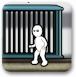 画线小人进铁笼