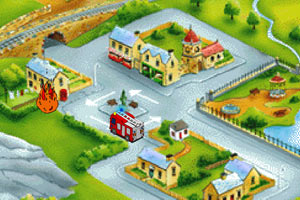 《消防车出动》游戏画面1