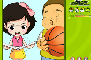 《运动王迪克篮球拼图》游戏画面1