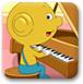 黄金小豆学钢琴