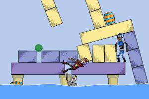 《瞄准打下游泳池》游戏画面1