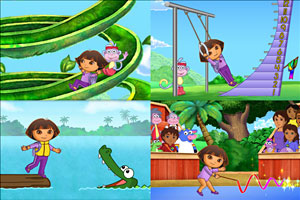 Play Dora Fantastic Gymnastic
