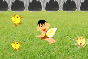 《幽幽战恐龙之捉小鸡》游戏画面1