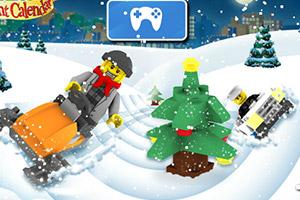 《乐高雪地车大赛》游戏画面1