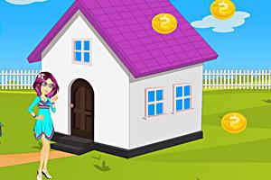 《女孩装扮房子》游戏画面1