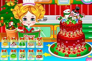 琪琪做圣诞蛋糕