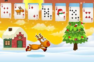 《圣诞纸牌接龙》游戏画面1
