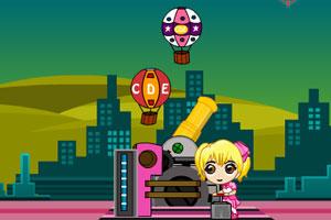 《女孩炮轰热气球》游戏画面1