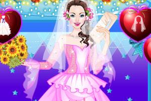 《美女的婚纱礼服》游戏画面1
