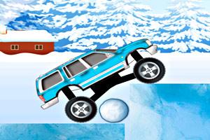 《冰地开卡车》游戏画面1
