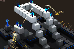 《方块人塔防》游戏画面1