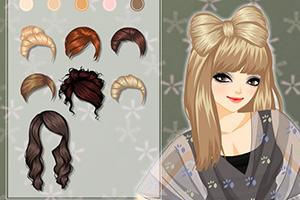 《蝴蝶结发型》游戏画面1