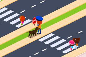 《女交警交通维护》游戏画面1