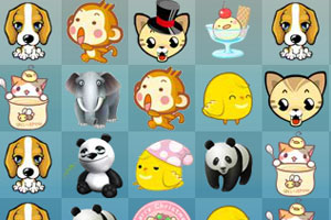 《卡哇伊小动物连连看》游戏画面1