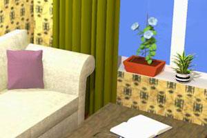《高档客厅逃脱》游戏画面1