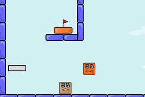 《弹跳的盒子再生选关版》游戏画面1