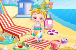 《可爱宝贝游沙滩》游戏画面7