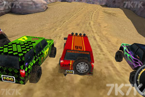 《3D峡谷四驱车》游戏画面1