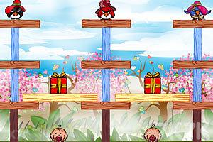 《不愤怒的小鸟情人节版》游戏画面2
