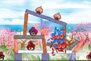 《不愤怒的小鸟情人节版》游戏画面10