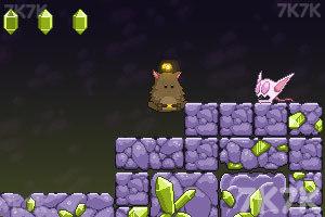 《胖胖猫山洞大闯关》游戏画面1