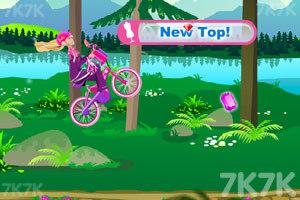 《芭比骑自行车》游戏画面5