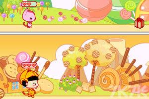 《小黑花花捡糖果》游戏画面1