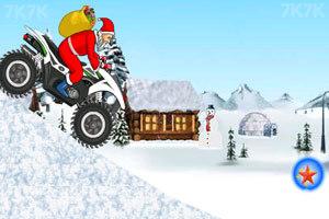 《圣诞老人冰山摩托》游戏画面6