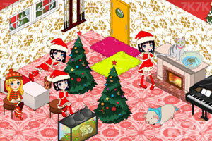 《豪华公主卧室圣诞版》游戏画面1