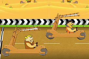 《原始人自制汽车赛》游戏画面1