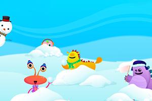《雪球打小怪》游戏画面1