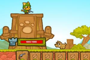 《猫猫守卫军无敌版》游戏画面1