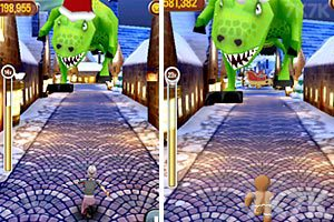 《愤怒奶奶玩跑酷圣诞版》游戏画面3