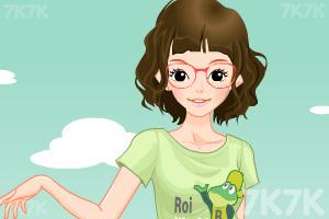 《小女生开学换装》游戏画面4